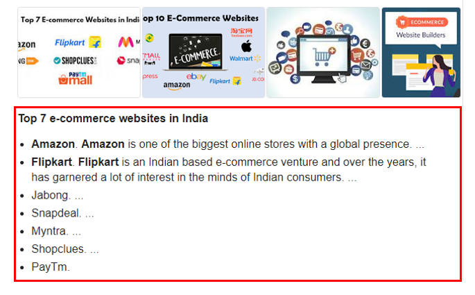 e-commerce websites,