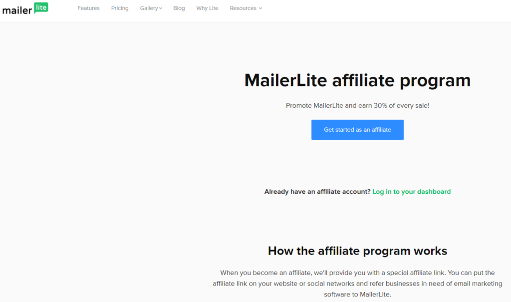 Mailerlite Best recurring affiliate  Program  companies