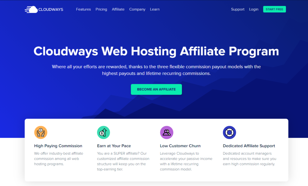 Cloudways Best recurring affiliate  Program  companies